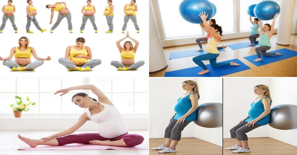 تمارين للحامل في الشهر الثامن بالصور