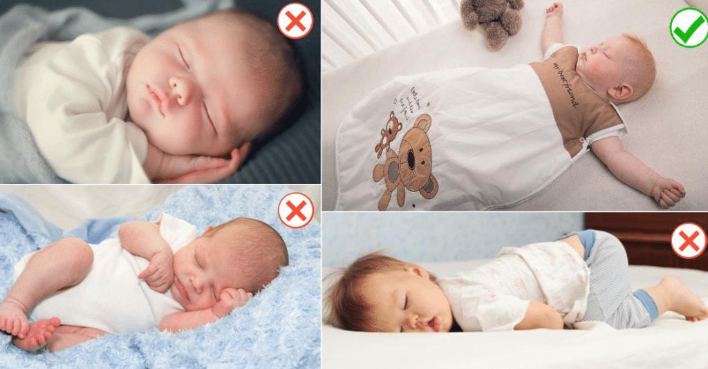 طريقة نوم الرضيع بالصور